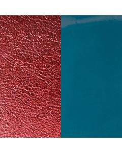 Rectangle Pendant Leather Jean Blue / Bordeaux